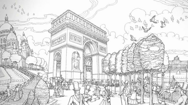 Aristic Time Travel: Coloring Historic Paris | Quarto Knows Blog