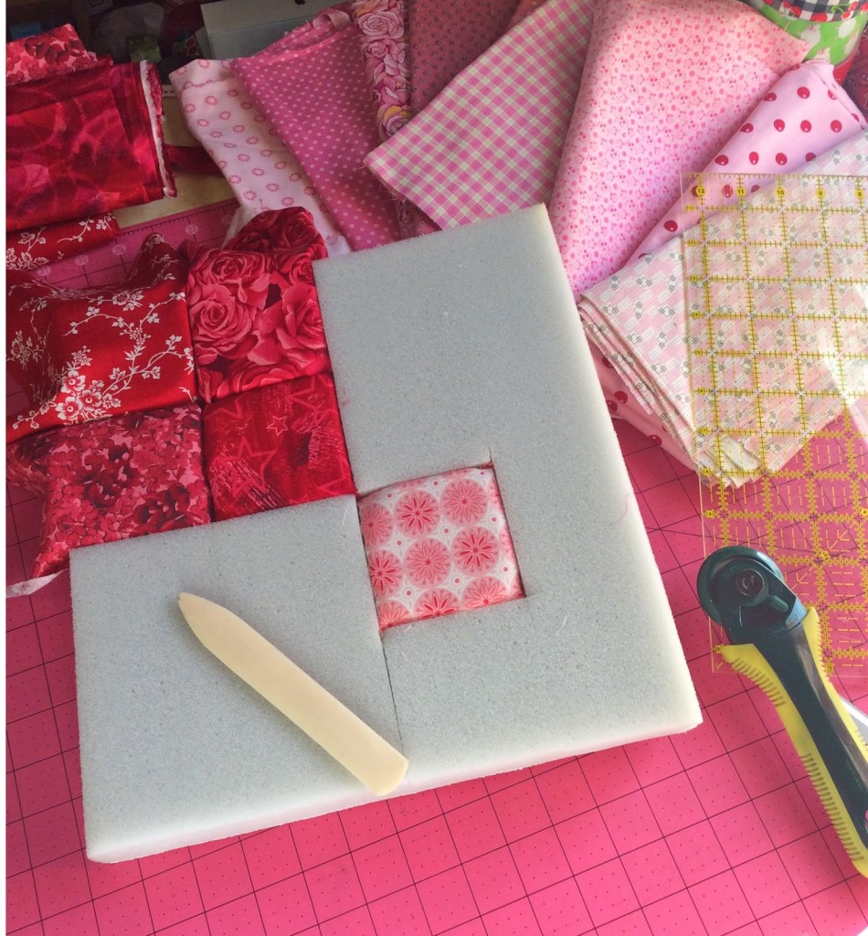 How To Make An Almost No Sew Quilted Heart Decoration For
