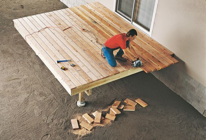 Perfect Using A Chalk Line And Circular Saw To Edge DIY Decking